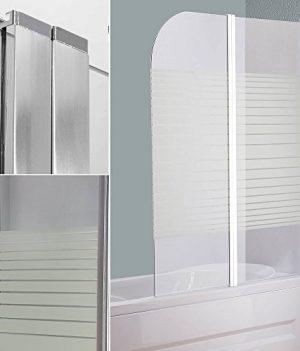 Glas Faltwand für Badewanne | Duschwand Glas | Duschschutz für Badewanne