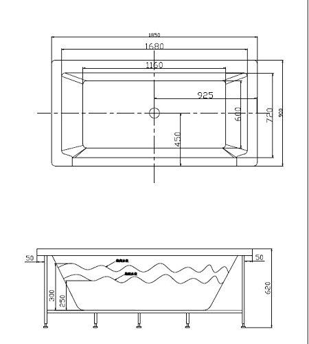 2 personen whirlpool alabama badewanne whirlwanne wasserfall uvp. Black Bedroom Furniture Sets. Home Design Ideas