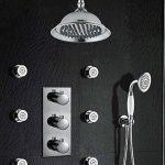 Dusche mit Seitenbrausen und thermostatmischventil