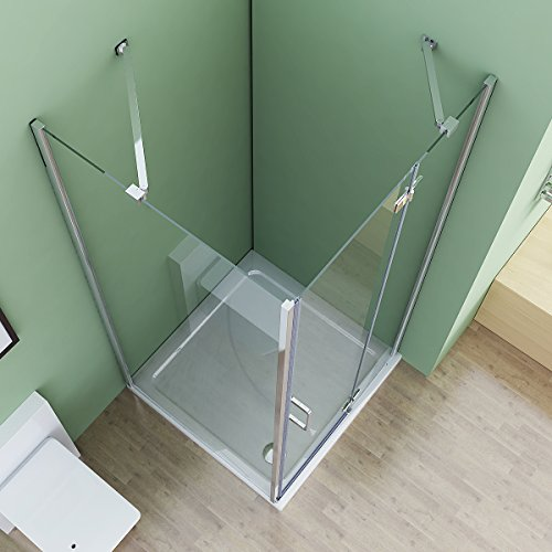 80x90x195 cm Duschkabine  | Eck dusche