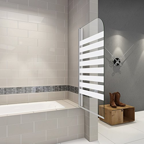 Faltwand | Badewanne Duschabrennung | Badewannenfaltwand | Duschtrennwand | 80x140 cm Duschabtrennung