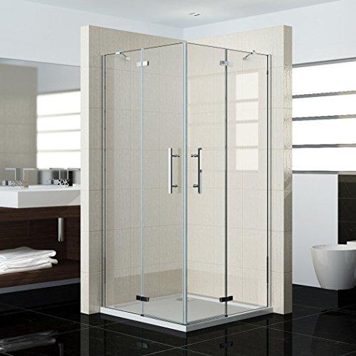 80x80x185cm duschkabine duschabtrennung eckeinstieg duscht r nano dreht r duschwand hn80 2e - Duschwand 80x80 ...