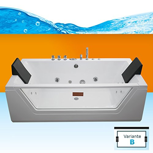 acquavapore whirlpool pool badewanne wanne a1813nb mit reinigungsfunktion 90x185. Black Bedroom Furniture Sets. Home Design Ideas