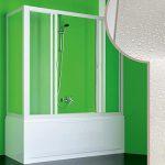 Acryl Badewannenaufsatz | Seitenwand mit zentraler öffnung | Badaewannenaufsatz für Dusche