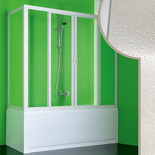 acryl badewannenaufsatz mit seitenwand plutone 2 mit zentraler ffnung. Black Bedroom Furniture Sets. Home Design Ideas