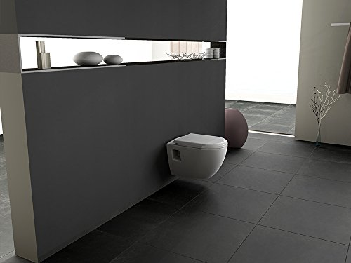 Aqua Bagno Design Hänge-WC Set LEIA TAHARAT - Wc inkl. Sitz Toilette Wand  WC Taharet Bidet