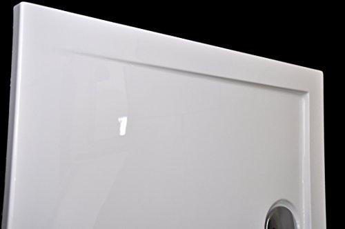 art of baan extra flache duschtasse duschwanne aus acryl glatt wei hochglanz 100x80x3 5cm. Black Bedroom Furniture Sets. Home Design Ideas