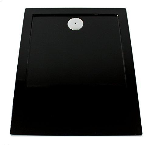 art of baan extra flache duschtasse duschwanne aus acryl glatt schwarz 120x80x3 5cm inkl. Black Bedroom Furniture Sets. Home Design Ideas