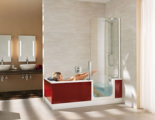 artweger twinline 2 kombiwanne badewanne mit t r und dusche 180 cm duschabtrennung weiss. Black Bedroom Furniture Sets. Home Design Ideas