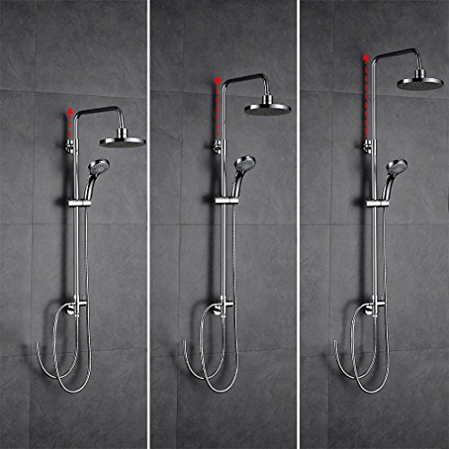 auralum aufputz duscharmatur duschset h henverstellbar duschsystem mit handbrause kopfbrause. Black Bedroom Furniture Sets. Home Design Ideas