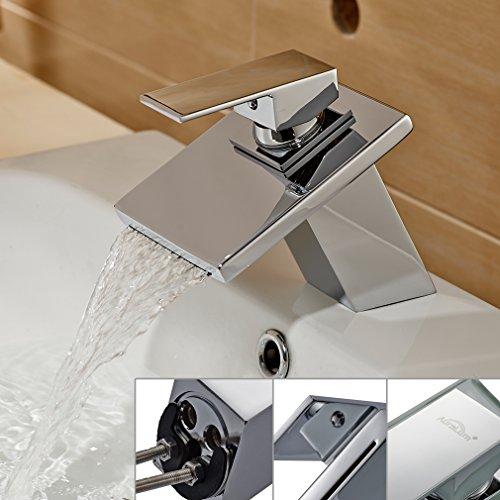 auralum armatur aus messing und glas wasserhahn waschtisch sp le waschtischarmatur f r bad. Black Bedroom Furniture Sets. Home Design Ideas