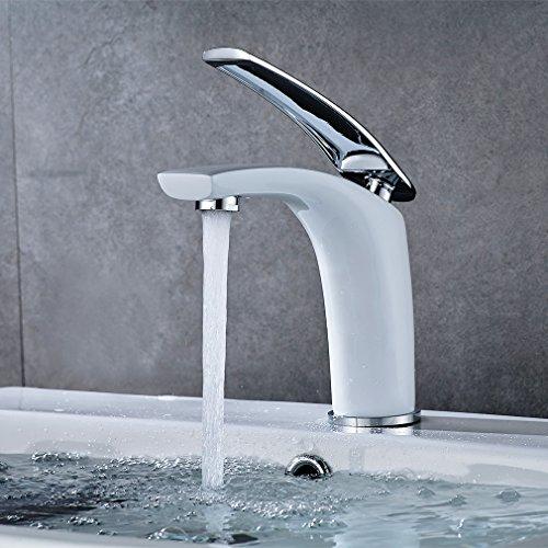 Auralum Chrom Moderne Design Wasserhahn Waschtischarmatur Armatur