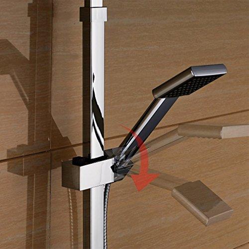 auralum edelstahl duschset brausegarnitur mit thermostat duschstange handbrause. Black Bedroom Furniture Sets. Home Design Ideas