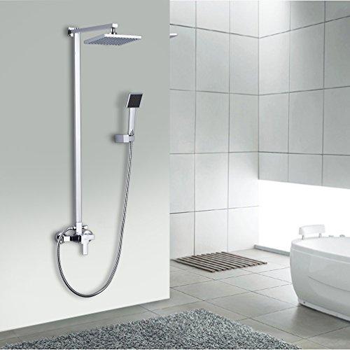 auralum elegant chrom duschs ule regendusche set duscharmatur duschsystem wasserfall duschen. Black Bedroom Furniture Sets. Home Design Ideas