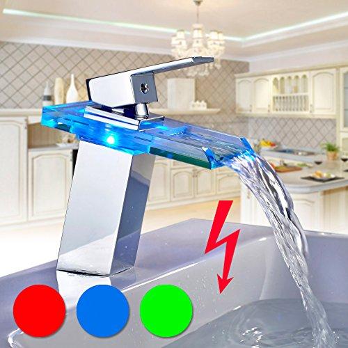 Waschtischarmatur mit led beleuchtung - Bauhaus niederdruckarmatur ...