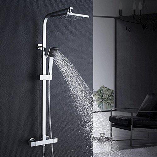 auralum thermostat duschset brausethermostat duschsystem duscharmatur kupfer mit handbrause und. Black Bedroom Furniture Sets. Home Design Ideas