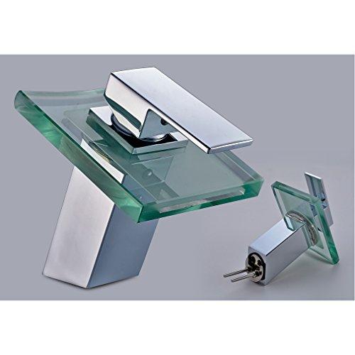 Auralum® Wasserhahn LED Glas Einhandhebelmischer