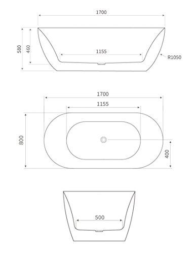 badewanne montreux in schwarz freistehend wanne sanit r. Black Bedroom Furniture Sets. Home Design Ideas