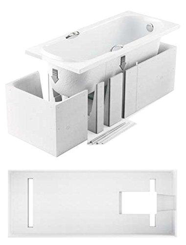 badewanne rechteck acryl 170x80 180x80 alpin wei tr ger ablaufgarnitur. Black Bedroom Furniture Sets. Home Design Ideas
