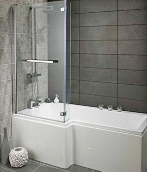 Badewanne und Dusche | 2 in 1 Badewanne | Kombi badewanne