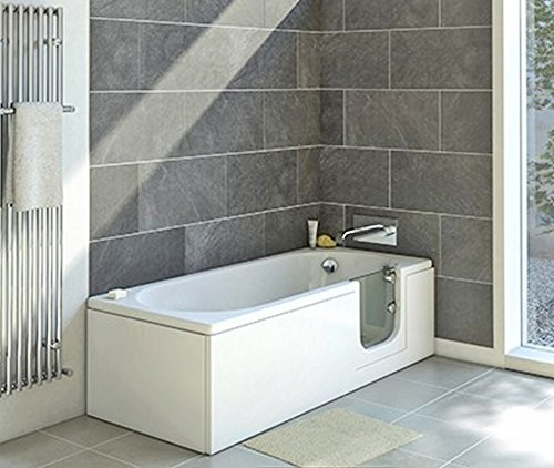 badewanne mit t r seniorenbadewanne 169 5x70x51cm mit wannensch rze und ablauf sifon. Black Bedroom Furniture Sets. Home Design Ideas
