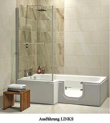 badewanne mit t r seniorenbadewanne 170x85 70x53cm mit. Black Bedroom Furniture Sets. Home Design Ideas