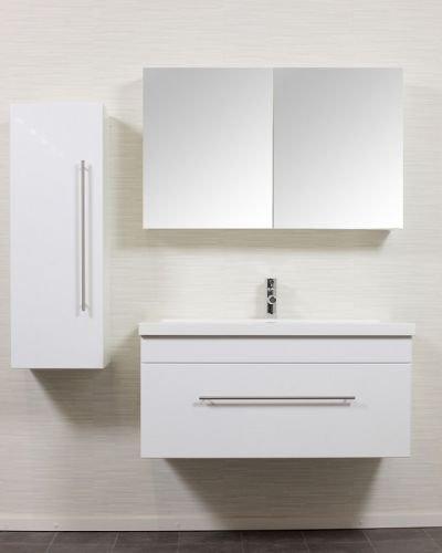 badm bel mega spar set atlantis 1000 weiss hochglanz. Black Bedroom Furniture Sets. Home Design Ideas