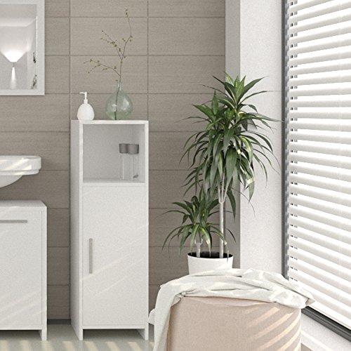 badschrank midischrank badezimmerschrank badm bel schrank regal badregal wei. Black Bedroom Furniture Sets. Home Design Ideas