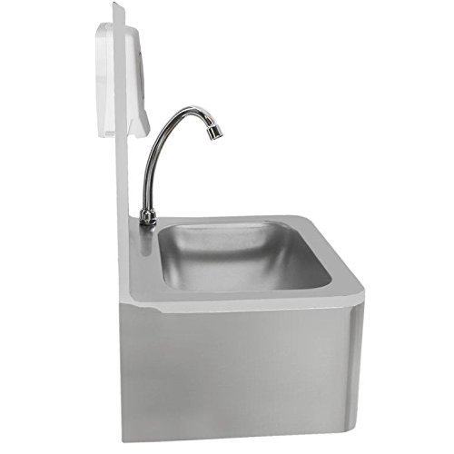 beeketal 39 hwb i 39 knie kontakt handwaschbecken aus edelstahl industrie waschbecken zur. Black Bedroom Furniture Sets. Home Design Ideas