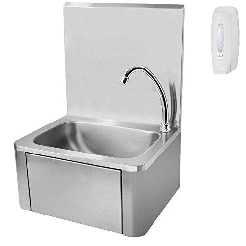 Edelstahl Waschbecken beeketal hwb i knie kontakt handwaschbecken aus edelstahl