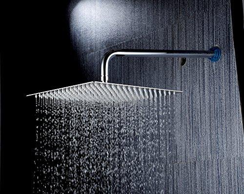 DSIKER®12 Zoll Quadratische Duschkopf Regendusche Brause Luxus rostfrei  Edelstahl Kopfbrause 30cm x 30cm/144 Düsen / Superflach Brausekopf  Regenbrause ...
