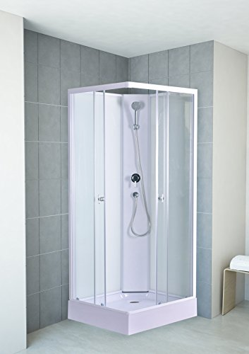 80x195 cm Dusche | Eckdusche | Duschkabiene eckig