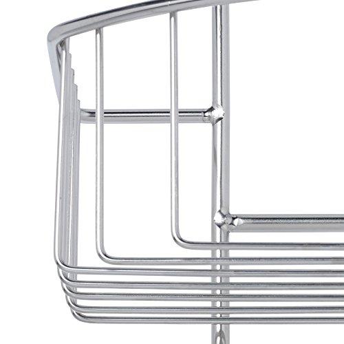 duschablage zum h ngen ohne bohren 2 duschk rbe 2 duschhaken duschregal edelstahl ca b22 x t16. Black Bedroom Furniture Sets. Home Design Ideas