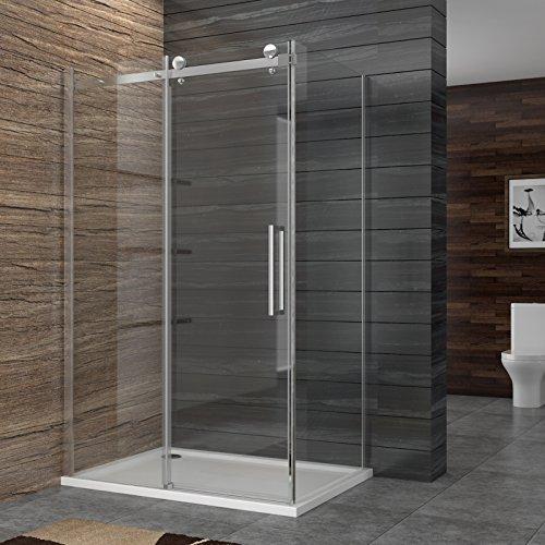 Dusche duschkabine duschabtrennung eckeisntieg duscht r eckdusche duschwand aus sicherheitsglas - Duschwand 80x80 ...