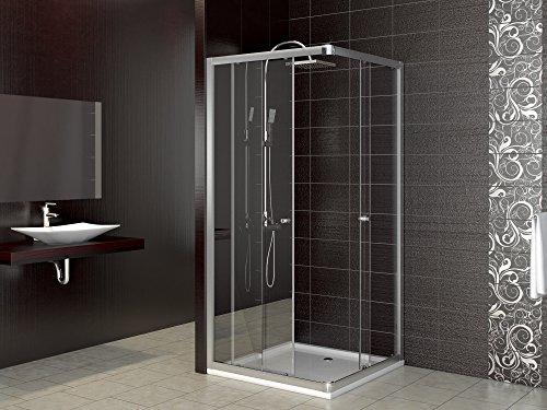 dusche duschkabine schiebet r eckdusche duschabtrennung duschschiebet r glas 90x90. Black Bedroom Furniture Sets. Home Design Ideas