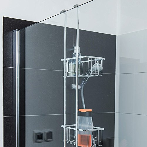 duschregal f r duschwand von duschmeister edelstahl verschromt dmko01 garantiert rostfrei mit 2. Black Bedroom Furniture Sets. Home Design Ideas