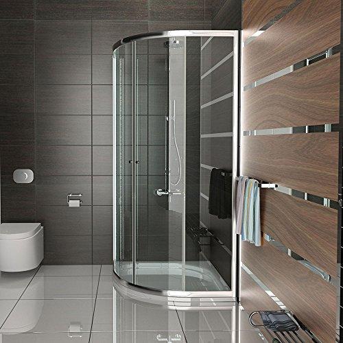 Duschkabine duschabtrennung mit rahmen viertelkreis dusche for Dusche trennwand