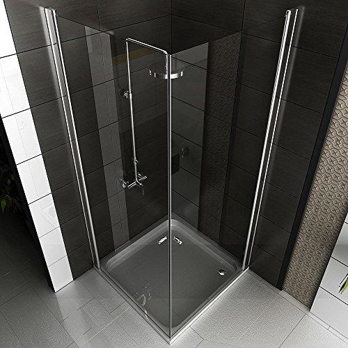 eck dusche rahmenlose glas duschkabine duschabtrennung 80x80x195 kostenlose lieferung. Black Bedroom Furniture Sets. Home Design Ideas