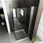 GLas Duschkabine | Rahmenlosen Dusche | 80x80x195 cm DUsche