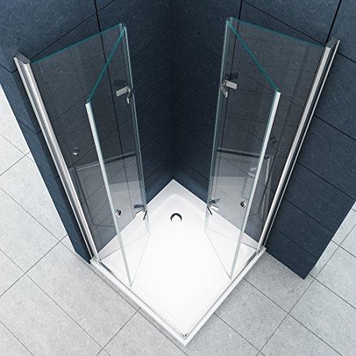 eckeinstieg duschkabine dusche vigo 80 x 80 x 180cm 8 mm. Black Bedroom Furniture Sets. Home Design Ideas