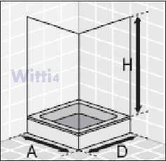 eckeinstieg duschkabine echtglas sicherheitsglas weisse profile 80x80 90x90 80x90 90x80. Black Bedroom Furniture Sets. Home Design Ideas