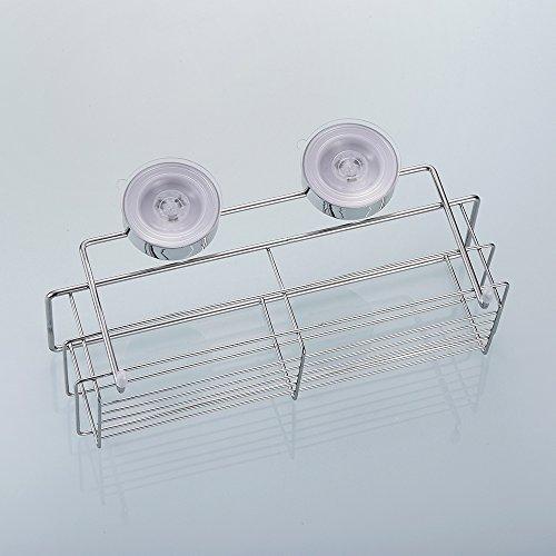 edelstahl duschkorb duschablage rostfrei ohne bohren duschregal saugnapf universalkorb stark. Black Bedroom Furniture Sets. Home Design Ideas