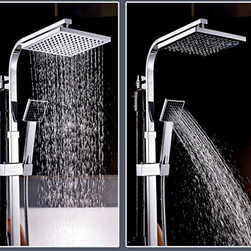 auralum klasischdesign duschset mit thermostat kopfbrause 20x20cm h henverstellbar ca 82 bis. Black Bedroom Furniture Sets. Home Design Ideas