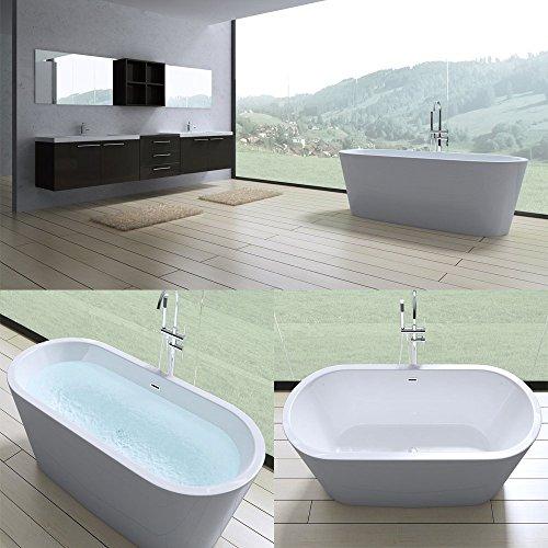 elegante design badewanne vicenza505 freistehend in wei. Black Bedroom Furniture Sets. Home Design Ideas