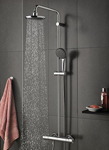 grohe vitalio start duschsystem mit vollem duschstrahl aus
