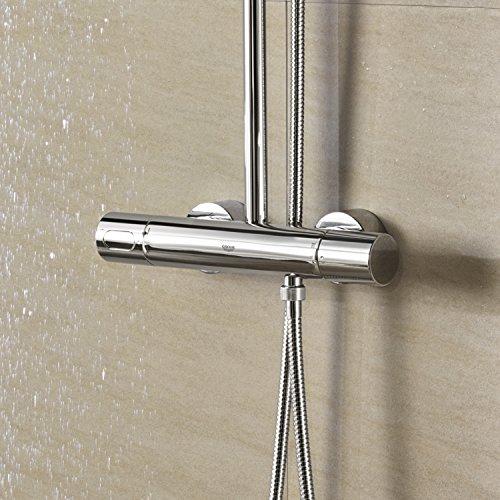 grohe rainshower 27174001 400 mit sena handbrause best. Black Bedroom Furniture Sets. Home Design Ideas
