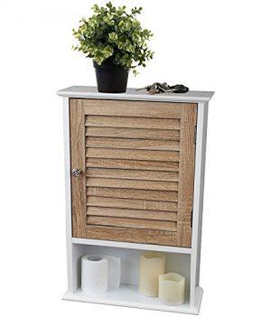 Badezimmer Schrank Holz | 40x15x60 cm Holz Schrank