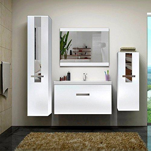 home deluxe badm bel set juist wei inkl waschbecken und komplettem zubeh r. Black Bedroom Furniture Sets. Home Design Ideas