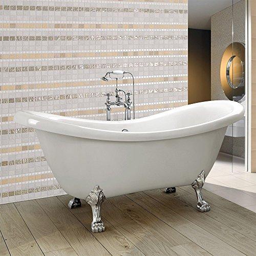 home deluxe freistehende design badewanne fama. Black Bedroom Furniture Sets. Home Design Ideas