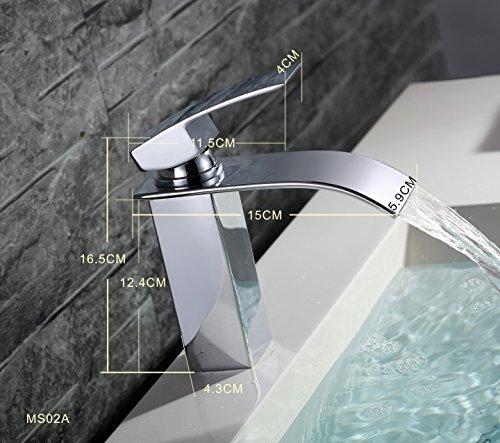 Homelody Bad Waschbecken Armatur Chrom Wasserfall Wasserhahn Badarmatur  Mischbatterie Armatur Einhebelmischer Waschbeckenarmatur Waschtischarmatur  ...